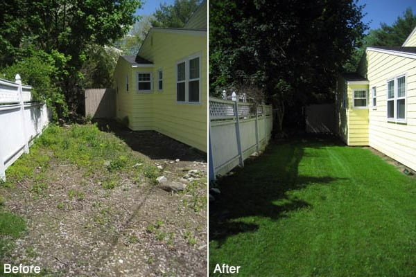 Narragansett Lawn Seeding Project