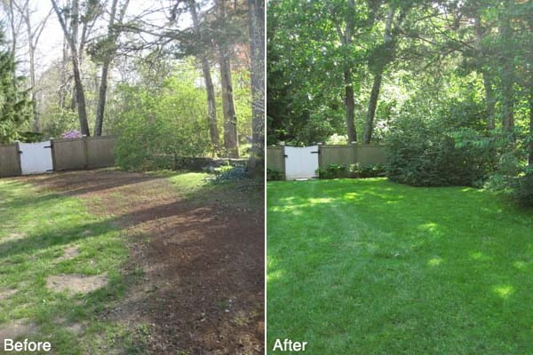 North Kingstown Lawn Seeding Project