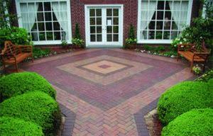 Multi-colored clay brick pavers
